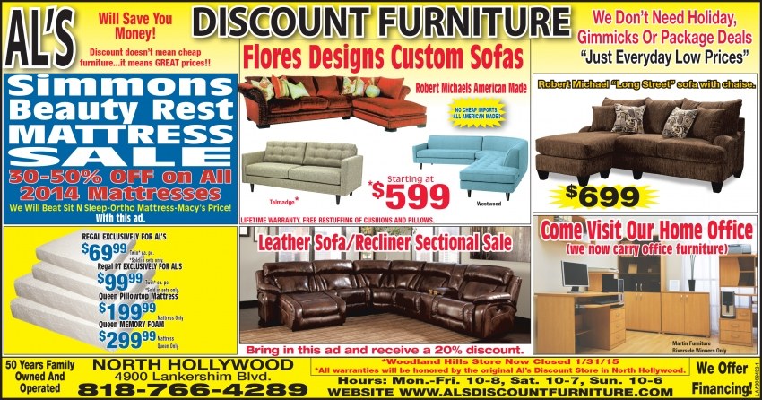 Al S Discount Furniture Leather Sofa Recliner Sectional Sale
